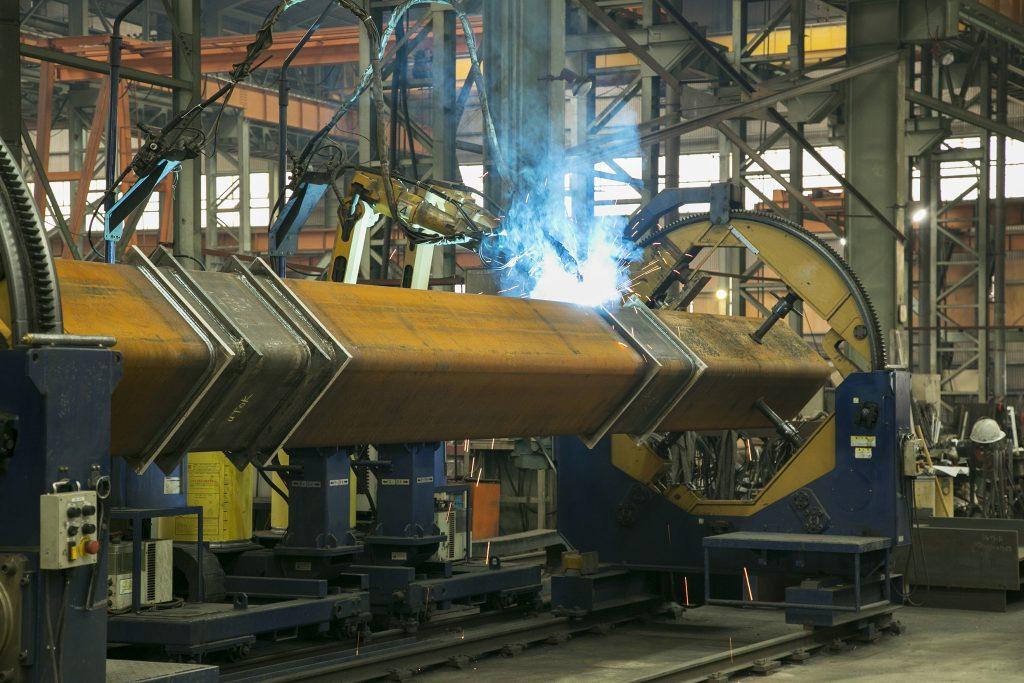 柱大組立溶接ロボット